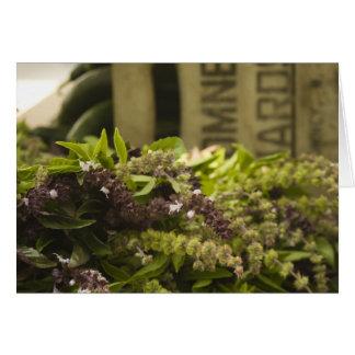 Farmer's Market Herbs Greeting Card