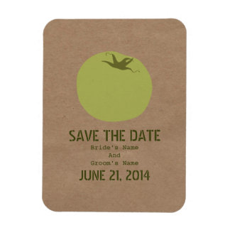Farmers Market Inspired Green Tomato Save The Date Rectangular Photo Magnet