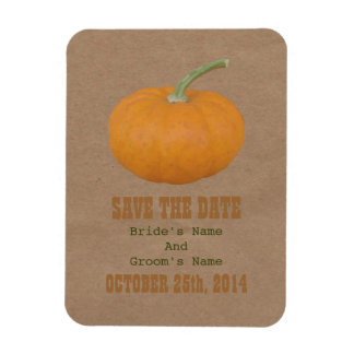 Farmers Market Inspired Save The Date | Pumpkin Rectangular Photo Magnet