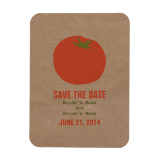 Farmers Market Inspired Save The Date | Tomato Rectangular Photo Magnet