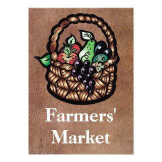 Farmers' Market Personalized Invitations