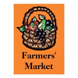 Farmers' Market Personalized Invites