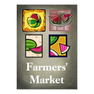 """Farmers' Market 5"""" X 7"""" Invitation Card"""