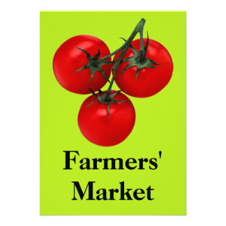 Farmers' Market Custom Invitation