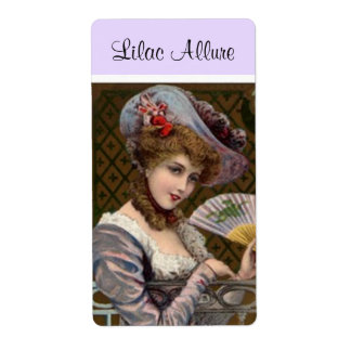 Farmers Market Lilac Lady Woman Product Label Shipping Label