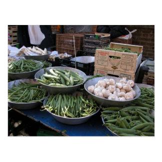 Farmer's market, Louans, Bresse,  beans Postcard