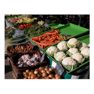 Farmer's market, Louans, Bresse Postcard