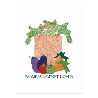 Farmers Market Lover Postcard