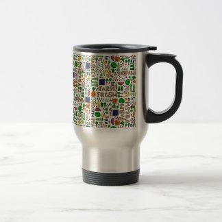 Farmer's Market Medley Stainless Steel Travel Mug