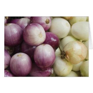 Farmers Market Onions Greeting Card