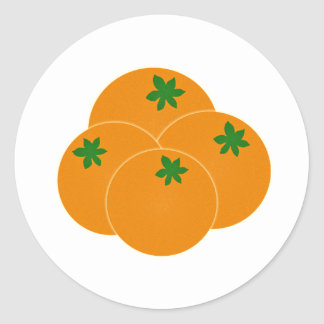Farmers Market Oranges Assortment Round Stickers