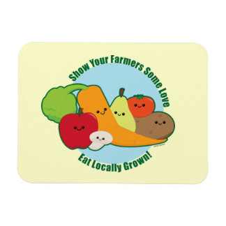 Farmers Market Rectangular Photo Magnet