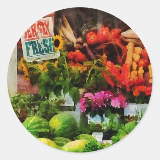 Farmer's Market Round Sticker