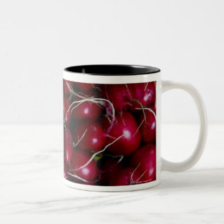 farmers market stand with various produce/ Two-Tone coffee mug