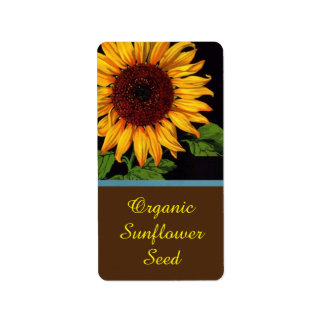 Farmers Market Sunflower Seeds Sell Product Label Address Label