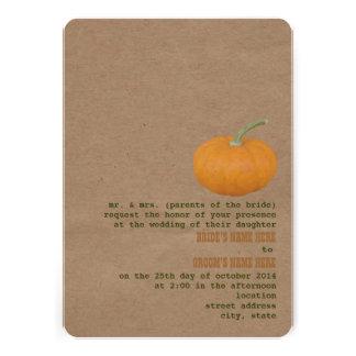 Farmer's Market Theme Wedding Invite   Pumpkin