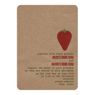 Farmer's Market Theme Wedding Invite | Strawberry