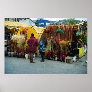 Farmer's market, Valpariso, Chile Poster