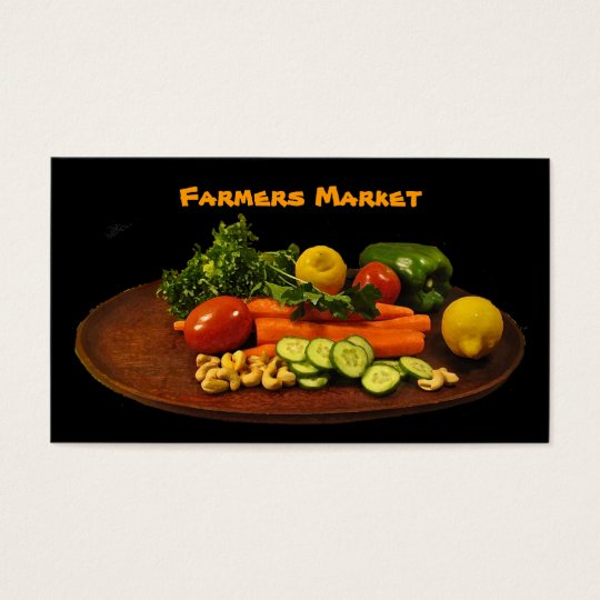 Farmers Market Vegetable Plate Business Card