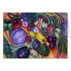 Farmer's Market Vegetable watercolor art Card
