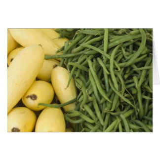 Farmers Market Yellow Squash and Beans Card