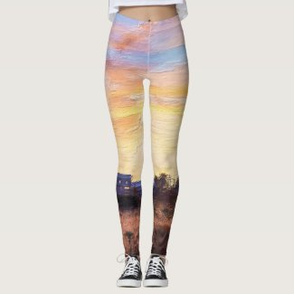 Farmers Morning Painterly Leggings