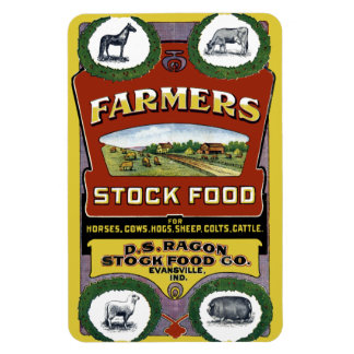Farmers Stock Food Label from Evansville Indiana Rectangular Photo Magnet