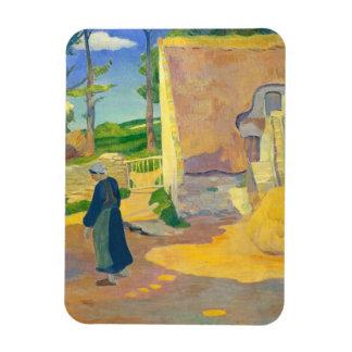 Farmhouse at Le Pouldu, 1890 (oil on canvas) Rectangle Magnets