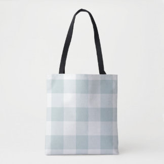 Farmhouse Blue Buffalo Check Tote Bag