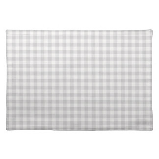 Farmhouse Gray Gingham Placemat