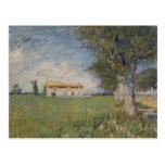 Farmhouse in a wheat field Postcard