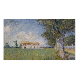 Farmhouse in a Wheat Field, Vincent Van Gogh Business Cards