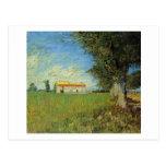 Farmhouse in a Wheat Field, Vincent van Gogh Postcard