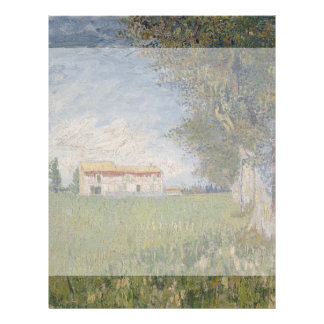 Farmhouse in a Wheatfield by Vincent Van Gogh Flyer Design