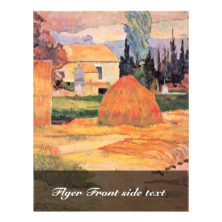 Farmhouse In Arles By Gauguin Paul (Best Quality) 21.5 Cm X 28 Cm Flyer