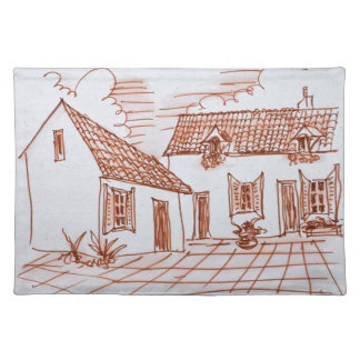 Farmhouse in Belle, France Placemat