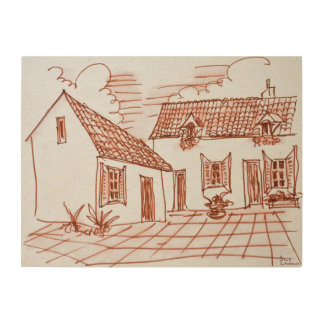 Farmhouse in Belle, France Wood Wall Decor