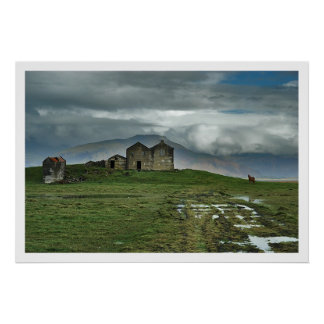 Farmhouse in Iceland Poster