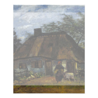 Farmhouse in Nuenen by Vincent Van Gogh 11.5 Cm X 14 Cm Flyer