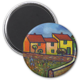FARMHOUSE IN PROVENCE 6 CM ROUND MAGNET