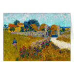 Farmhouse in Provence by Vincent Van Gogh Note Card