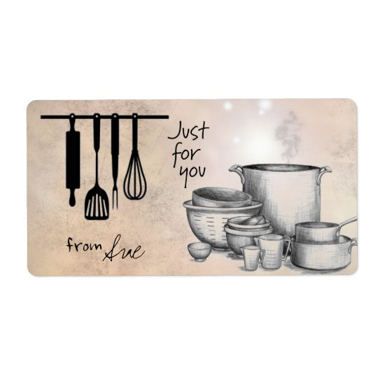 "Farmhouse ""Just for You"" Cooking/Baking Labels"