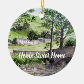Farmhouse near Thirlmere, Lake District, England Christmas Ornament