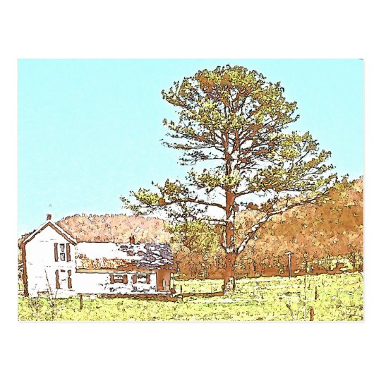 Farmhouse Postcard
