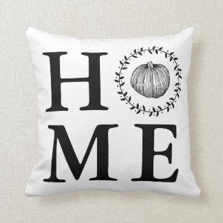 Farmhouse Pumpkin Wreath Home Cushion