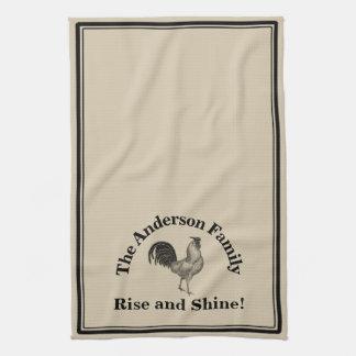 Farmhouse Rustic Chicken Custom Family Tea Towel