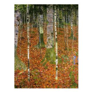 Farmhouse with Birch Trees Postcard