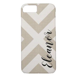 Farmhouse X Beige Linen Monogram iPhone 8/7 Case