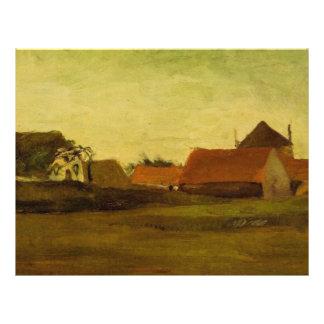 Farmhouses in Loosduinen near The Hague at... 21.5 Cm X 28 Cm Flyer