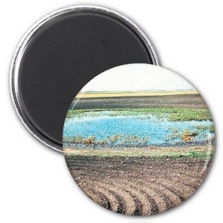 Farming Affecting Wetlands Refrigerator Magnets